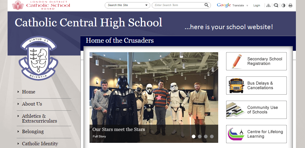 Catholic School Website